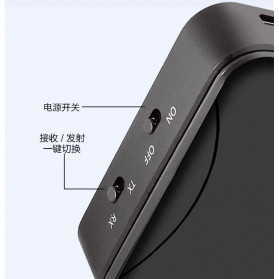 Kebidu Audio Bluetooth 5.0 Transmitter Receiver aptX Fiber Optical Plug - 30445 - Black - 2