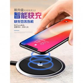 JAVY Ultra Thin Qi Wireless Charger - W3 - Black - 2