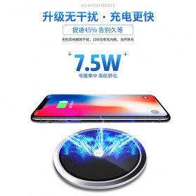 JAVY Ultra Thin Qi Wireless Charger - W3 - Black - 3