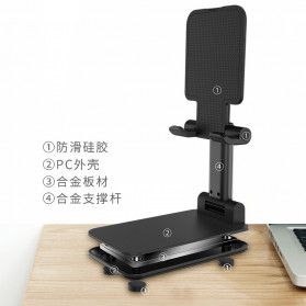 KKMOON Dudukan Smartphone Tablet Stand Holder Multi Angle - LP109 - Black - 2