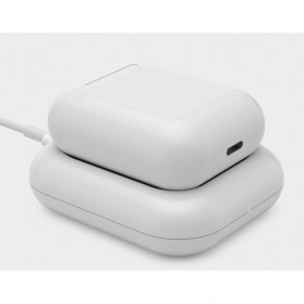 JAVY Qi Wireless Charging Dock for Apple Airpods Wireless Case - W4 - White - 2