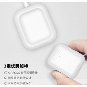 JAVY Qi Wireless Charging Dock for Apple Airpods Wireless Case - W4 - White - 4