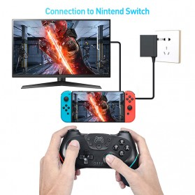 ShirLin Bluetooth Gamepad Pro 6-axis Joystick for Nintendo Switch - NS-6 - Black - 5