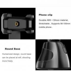 APAI GENIE Dudukan Smartphone Smart Object Tracking Stand Holder 360 Degree Rotate - AG276 - Black - 3