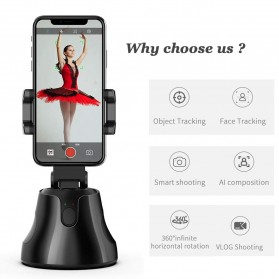 APAI GENIE Dudukan Smartphone Smart Object Tracking Stand Holder 360 Degree Rotate - AG276 - Black - 4