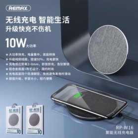Remax June Series Qi Wireless Charging Dock Fast Charger 10W - RP-W16 - Black