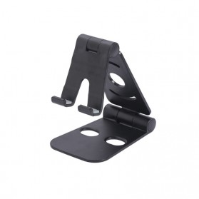 Tospra Lazy Smartphone Holder Table Foldable Mobile Phone Stand - JW7 - Black - 1