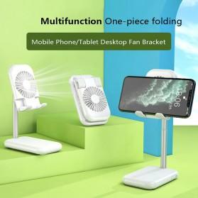 ANENG Smartphone Stand Holder Desk Adjustable Bracket with Mini Fan- ZG30 - Black - 2