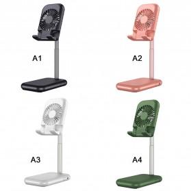 ANENG Smartphone Stand Holder Desk Adjustable Bracket with Mini Fan- ZG30 - Black - 5