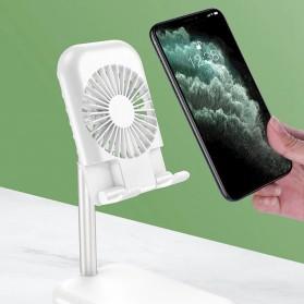 ANENG Smartphone Stand Holder Desk Adjustable Bracket with Mini Fan- ZG30 - Black - 6