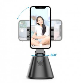 SOUING GENIE Dudukan Smartphone Smart Object Tracking Stand Holder 360 Degree Rotate - AG277 - Black - 3