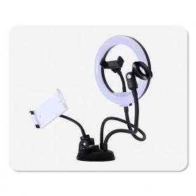 BePotofone LED Selfie Ring Fill Light Dimmable Live Stream Tiktok 10 Inch with 2xHolder - BRL71 - Black - 7