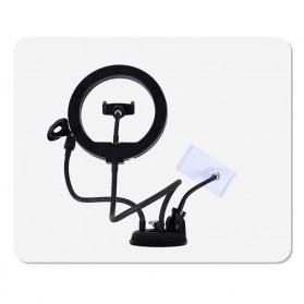 BePotofone LED Selfie Ring Fill Light Dimmable Live Stream Tiktok 10 Inch with 2xHolder - BRL71 - Black - 10