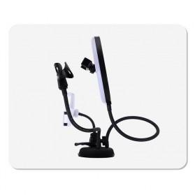 BePotofone LED Selfie Ring Fill Light Dimmable Live Stream Tiktok 8 Inch with 2xHolder - BRL71 - Black - 8