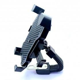 INIU Smartphone Holder Sepeda Motor Rearview Mirror Version - C-4 - Black - 2