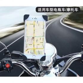 INIU Smartphone Holder Sepeda Motor Rearview Mirror Version - C-4 - Black - 3
