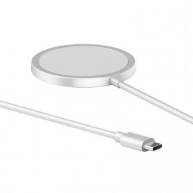 JKING MagSafe Wireless Charging Dock Magnetic USB Type C 15W - J15WN - White - 3