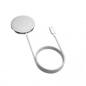 JKING MagSafe Wireless Charging Dock Magnetic USB Type C 15W - J15WN - White - 4