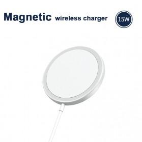 JKING MagSafe Wireless Charging Dock Magnetic USB Type C 15W - J15WN - White - 6