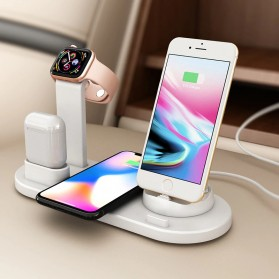 HICBEST Wireless Charging Docking Station 3 in 1 for Smartphone Apple Watch Airpods - BXD-07A - White