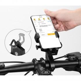 ZY Smartphone Holder Sepeda Motor Handlebar Version - Y-17 - Black - 2