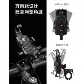 ZY Smartphone Holder Sepeda Motor Handlebar Version - Y-17 - Black - 3