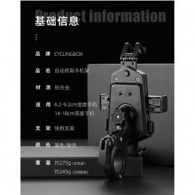 ZY Smartphone Holder Sepeda Motor Handlebar Version - Y-17 - Black - 4