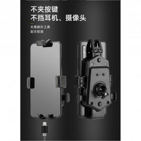 ZY Smartphone Holder Sepeda Motor Handlebar Version - Y-17 - Black - 5