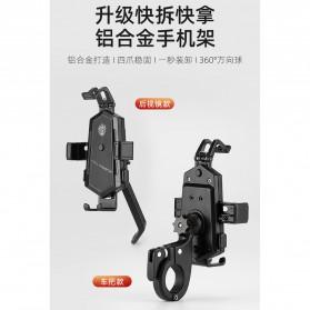 ZY Smartphone Holder Sepeda Motor Handlebar Version - Y-17 - Black - 7