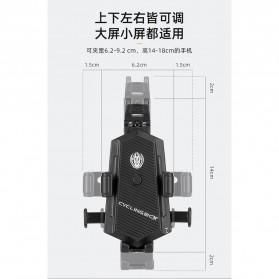 ZY Smartphone Holder Sepeda Motor Handlebar Version - Y-17 - Black - 8