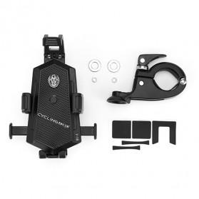 ZY Smartphone Holder Sepeda Motor Handlebar Version - Y-17 - Black - 9