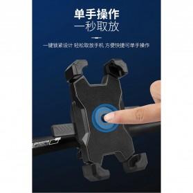 Pop Fruit Smartphone Holder Sepeda Motor Handlebar Version - PLA-02 - Black - 2