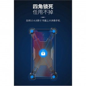 Pop Fruit Smartphone Holder Sepeda Motor Handlebar Version - PLA-02 - Black - 3
