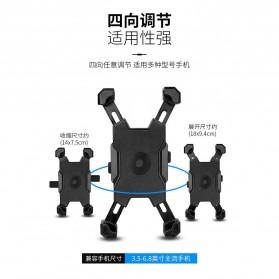 Pop Fruit Smartphone Holder Sepeda Motor Handlebar Version - PLA-02 - Black - 4