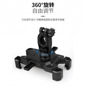 Pop Fruit Smartphone Holder Sepeda Motor Handlebar Version - PLA-02 - Black - 6