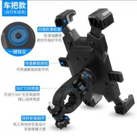 Pop Fruit Smartphone Holder Sepeda Motor Handlebar Version - PLA-02 - Black - 7
