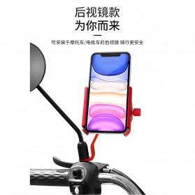 ZY Smartphone Holder Sepeda Motor Rearview Version - ZY-5 - Black
