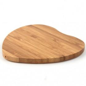Lieve Portable Qi Wireless Charger Slim Wood Love Design 5W - LI-W5 - Wooden