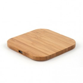 Lieve Portable Qi Wireless Charger Slim Wood Square Design 5W - LI-W5 - Wooden