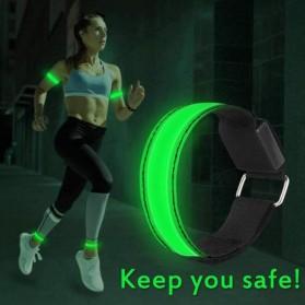 MRXS Sport Armband Wristband Safety Belt LED Light - MR-233 - Green