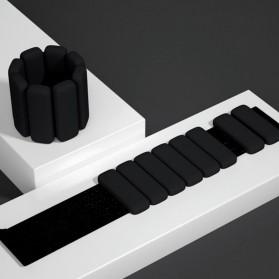 MRXS Pemberat Kaki Olahraga Adjustable Weight Bracelet Wristband Silicone 450G 2PCS - LX-366 - Black