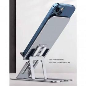 VEEAII Smartphone Tablet Stand Holder Foldable Aluminium 6 Adjustment - Z5 - Silver - 3