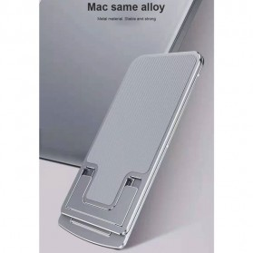 VEEAII Smartphone Tablet Stand Holder Foldable Aluminium 6 Adjustment - Z5 - Silver - 5