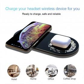 Geojieer Dual Qi Wireless Charger Fast Charging 18W - G0101 - Black