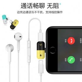 Fexcel Audio Converter Lightning to Lightning Audio - 1000 - Black/Yellow - 7