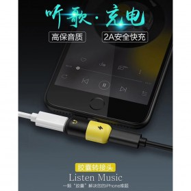 Fexcel Audio Converter Lightning to Lightning Audio - 1000 - Black/Yellow - 9