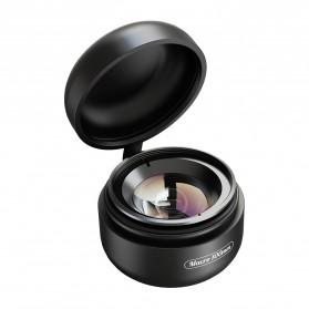 APEXEL Lensa Kamera Smartphone Universal Clip 100MM Macro Lens - APL-HD5BM - Black - 2
