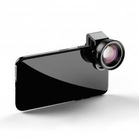 APEXEL Lensa Kamera Smartphone Universal Clip 100MM Macro Lens - APL-HD5BM - Black - 3