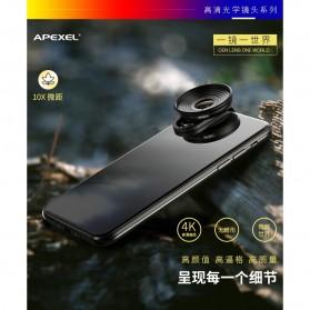 APEXEL Lensa Kamera Smartphone Universal Clip 10X Macro Lens - APL-HD5M - Black - 2