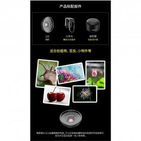 APEXEL Lensa Kamera Smartphone Universal Clip 10X Macro Lens - APL-HD5M - Black - 3